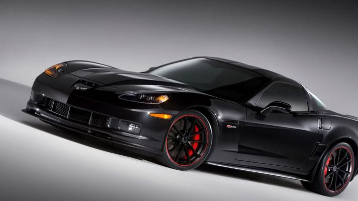 2012 Chevrolet Corvette Z06 Centennial Edition Side View in Black