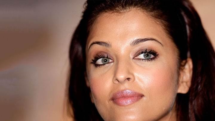 Aishwarya Rai Face Closeup And Blue Eyes