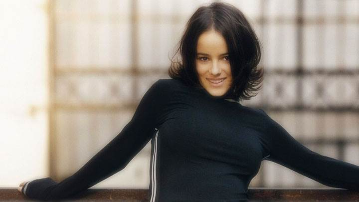 Alizee Jacotey Black Sport Dress And Smiling