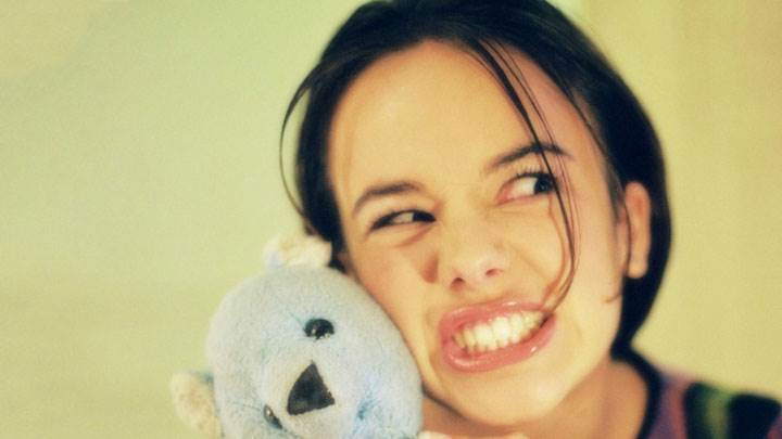 Alizee Jacotey With A Teddy