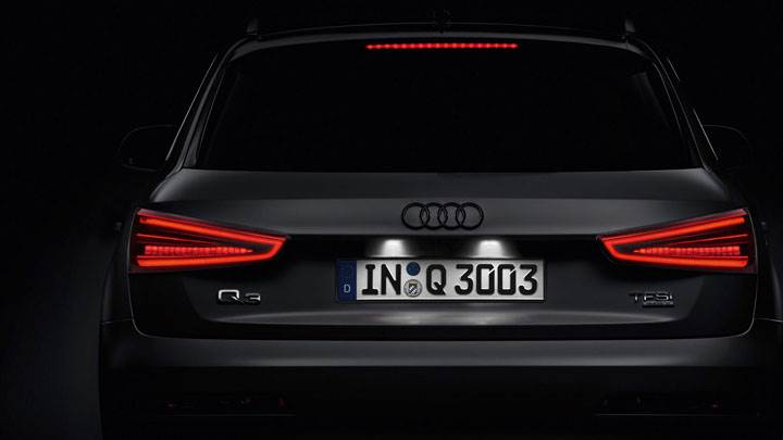 Audi Q3 Back Pose In Dark