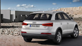 Audi Q3 White Color Back Picture