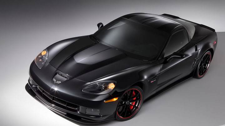 Black Chevrolet Centennial Edition Corvette Z06 Front Pose
