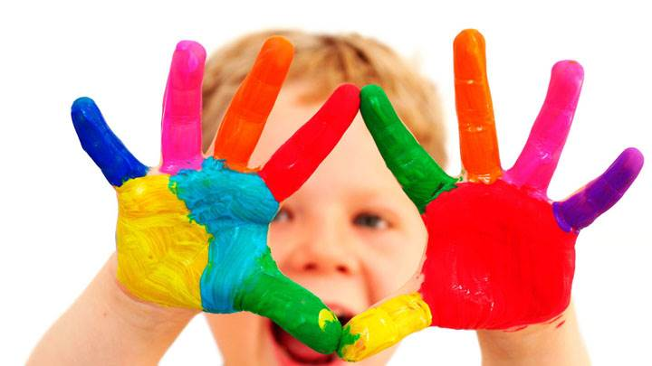 Colorful Hands With Paint