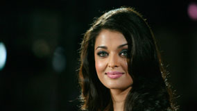 Cute Aishwarya Rai Pink Wet Lips Face Closeup