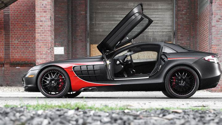 EDO Competition SLR Black Arrow Side With Open Doors