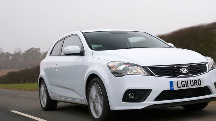 Kia Pro Ceed 4 On Highway In White Color