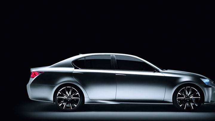 Lexus LF GH Hybrid Concept Side Pose In Shadow