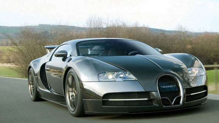 Mansory Bugatti Veyron Side Front On Highway