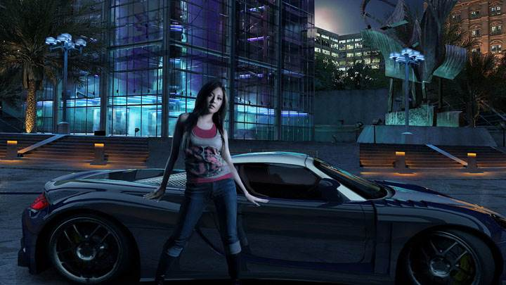 Need For Speed Carbon Girl Outside Car