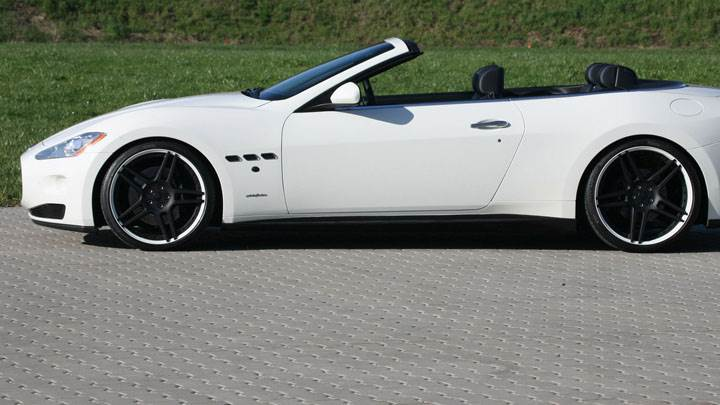 Novitec Maserati Grancabrio Side Pose In White Color