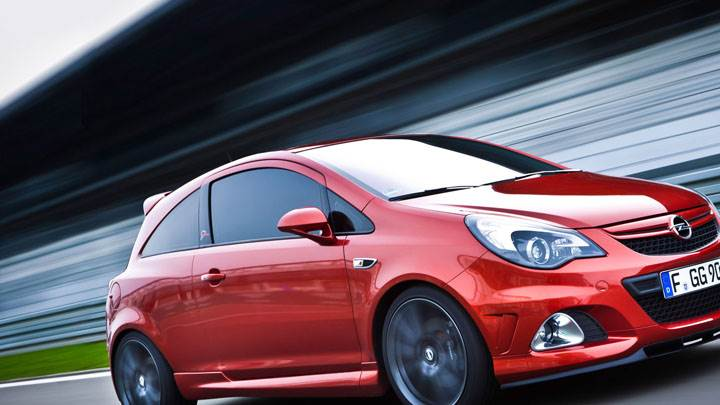 Opel Corsa OPC Nurburgring Edition Red Color Side Pose