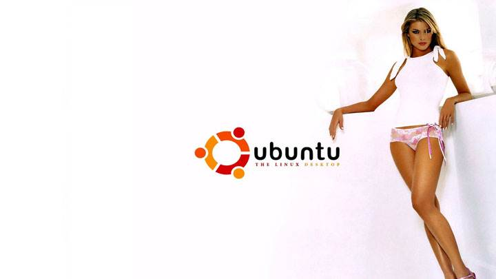 Girl In Ubuntu Ad & White Background