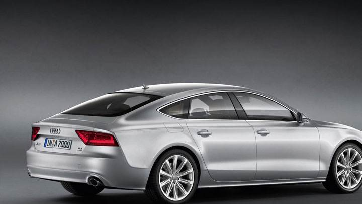 2011 Audi A7 Sportback Back Side Pose in Silver