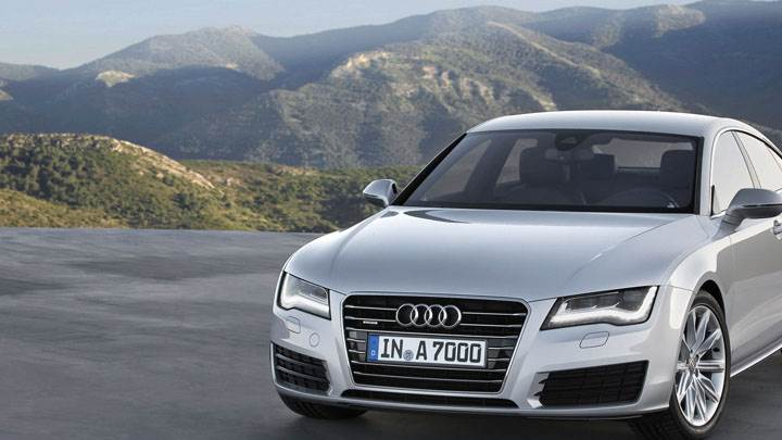 2011 Audi A7 Sportback in Silver Front Pose