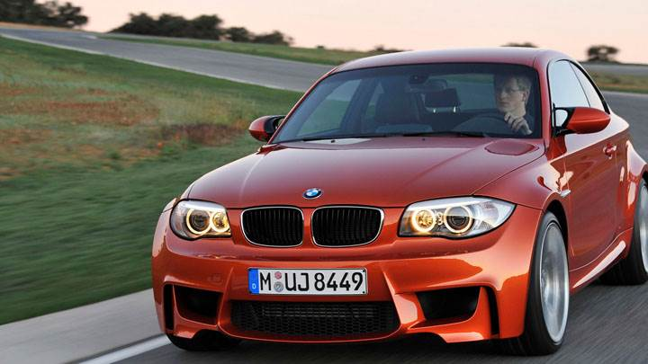 2011 BMW 1 Series M Running on Highway