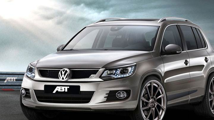 2012 ABT Volkswagen Tiguan in Grey Side Front Pose