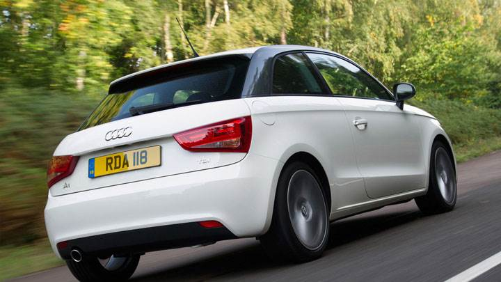 2012 Audi A1 1.6 TDI White Back Pose