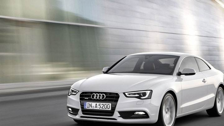 2012 Audi A5 Coupe Front Running on Highway