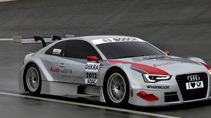 2012 Audi A5 DTM On Race Course
