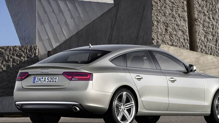 2012 Audi A5 Sportback Side Back Pose