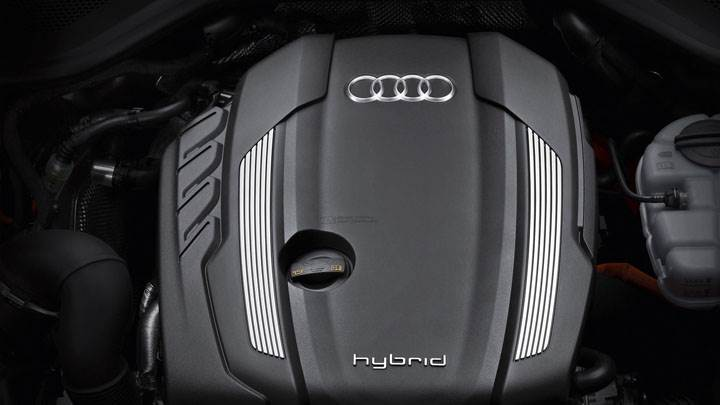 2012 Audi A8 Hybrid Engine Closeup Picture