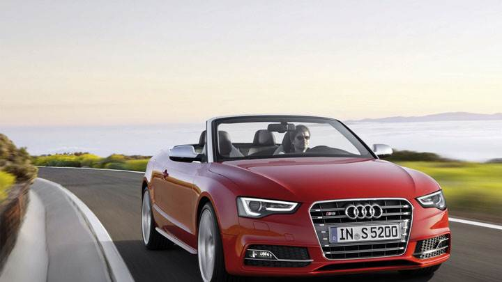 2012 Audi S5 Cabriolet Red Color Front View