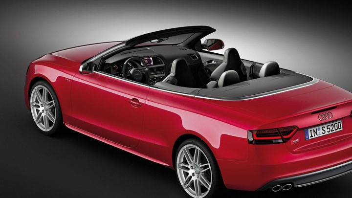 2012 Audi S5 Cabriolet Red Color Open