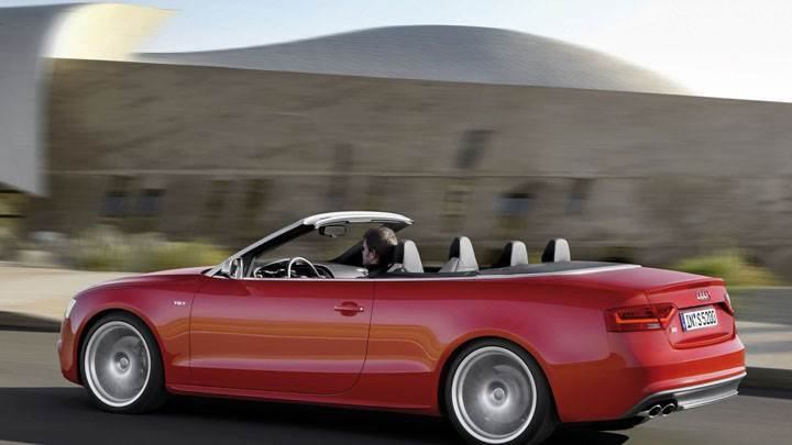 2012 Audi S5 Cabriolet Running on Highway