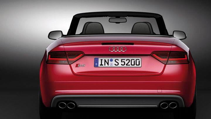 2012 Audi S5 Cabriolet in Red Color Black Background