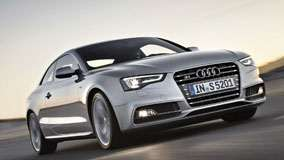 2012 Audi S5 Coupe In Silver Front View