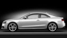 2012 Audi S5 Coupe Side View in Silver Color