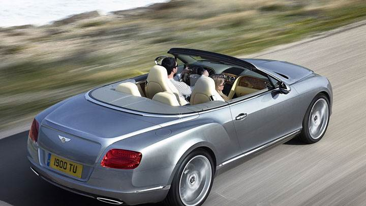 2012 Bentley Continental GTC Silver Back Side