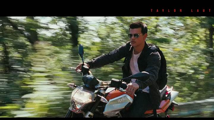 Abduction – Taylor Lautner In Black Jacket And Goggles On Bike