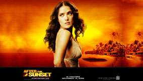 After The Sunset &#8211; Salma Hayek Looking Back Side Pose