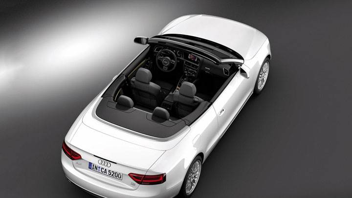 Audi A5 Cabriolet in White Back Top Pose