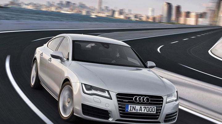 Audi A7 Sportback Running on Highway