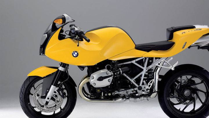 BMW R1200S In Yellow Color Side View