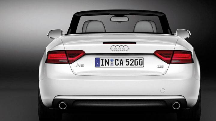Back Pose of 2012 Audi A5 Cabriolet White
