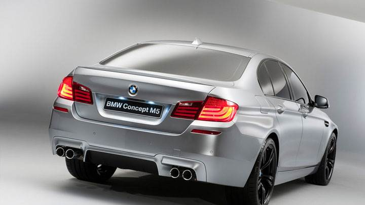 Back Pose of 2012 BMW M5 Concept