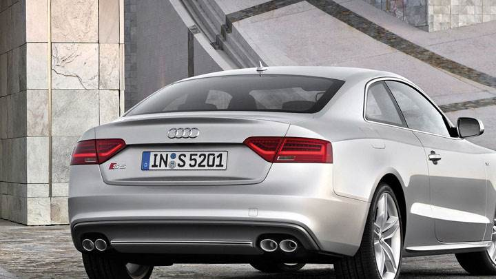 Back View of 2012 Audi S5 Coupe