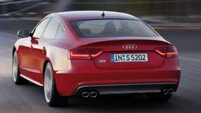 Back View of Red 2012 Audi S5 Sportback