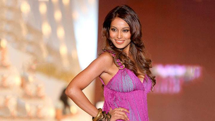 Bipasha Basu Modeling Pose In Pink Dress