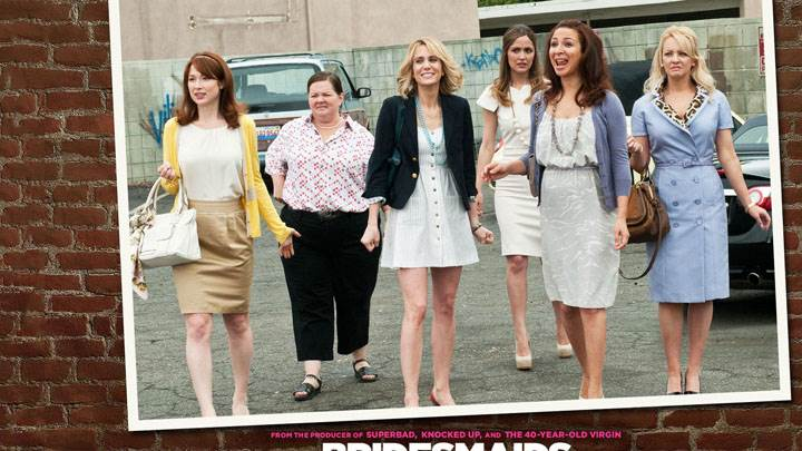 Bridesmaids – All Characters Outside Car Parking