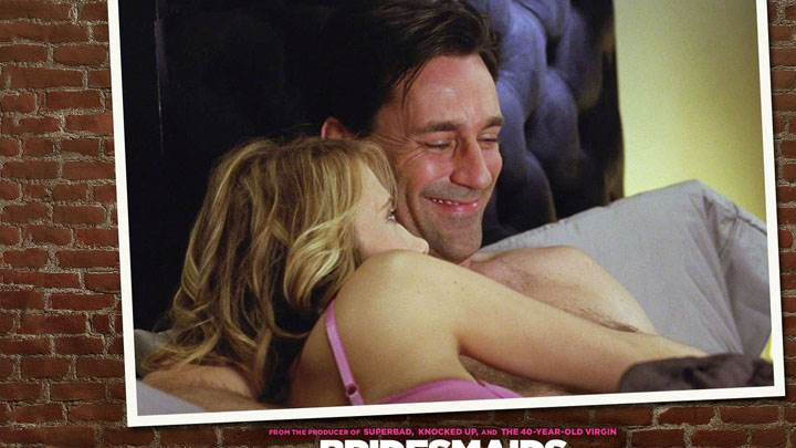Bridesmaids – Jon Hamm Smiling On Bed