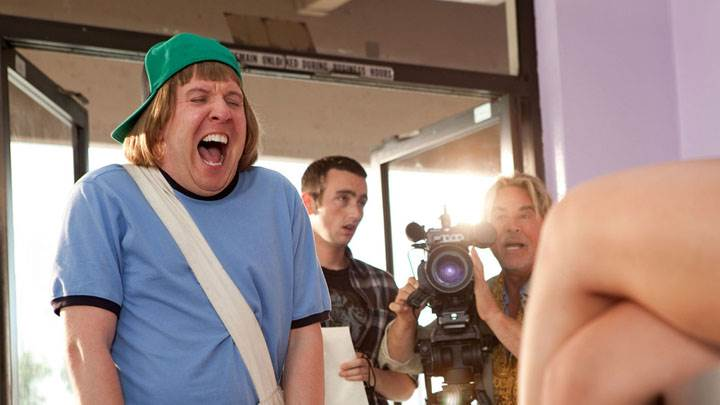 Bucky Larson – Born To Be A Star – Nick Swardson Mouth Open At Front Of Camera