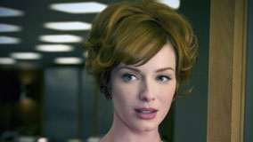 Christina Hendricks Blue Eyes And Face Closeup