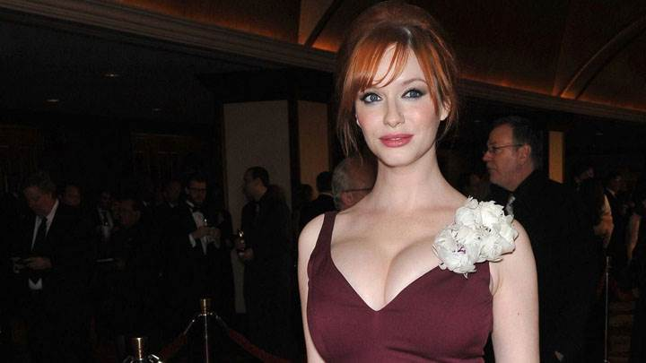 Christina Hendricks Smiling And Cute Looking Photoshoot