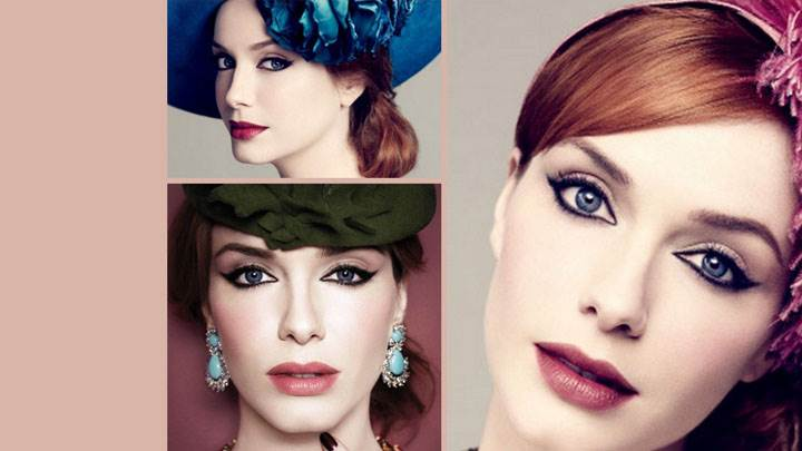 Christina Hendricks Three Different Cute Face Closeup