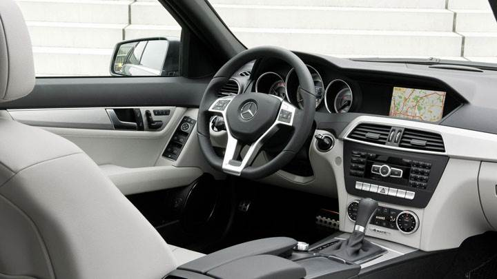 Dashboard Of Mercedes-Benz C-Class
